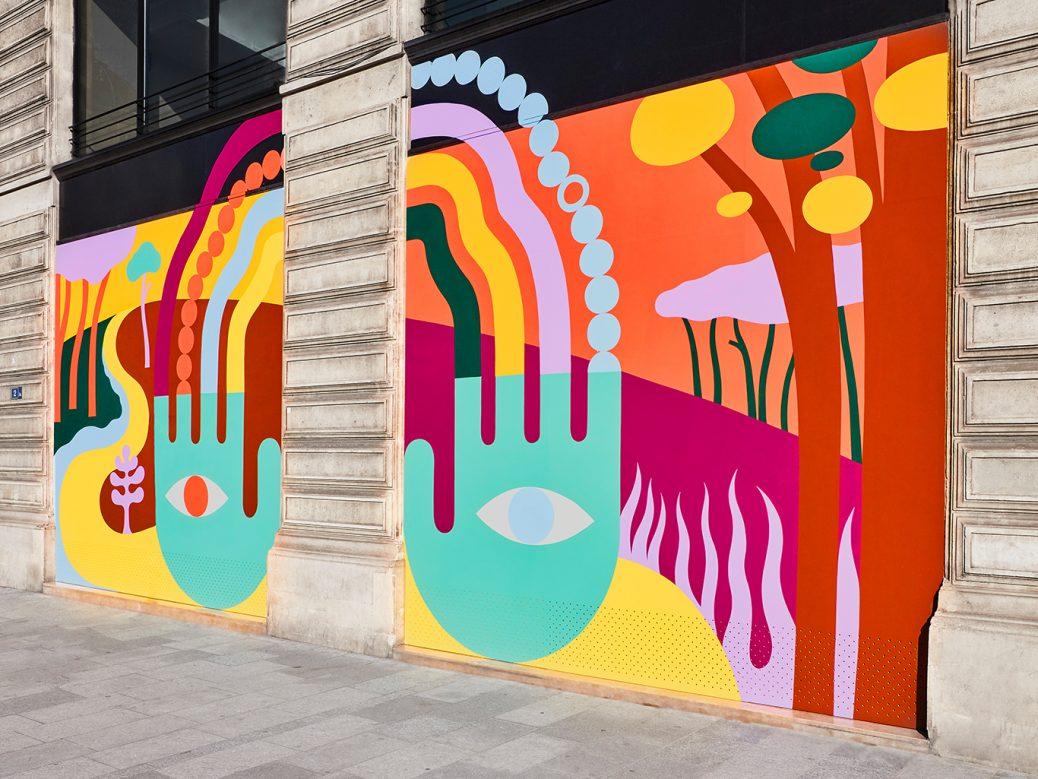 Luckylefthand e la street art per Louis Vuitton