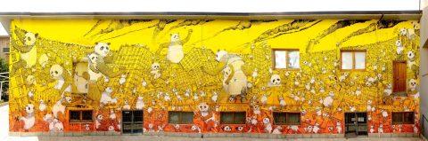 """I panda di Blu. La """"Pandemia"""" raccontata dagli occhi dello street artist"""